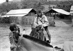 At work in rebel-held territory, Shan State, Burma, 1990.